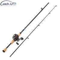 Catch.U 1.7m 1.8m caña de pescar carpa de carbono telescópica, caña de pescar mar playa pesca caña de pescar