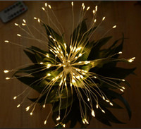 LED fireworks Broom lamp Copper String Light Night Lights fl...
