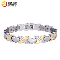 Top Selling Healthy Stainless Steel Magnet therapy Bracelet ...