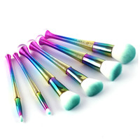 6 pezzi Pennelli trucco set pennello cosmetico Pennello trucco filo Brillantezza a colori sfumati trucco pennello strumenti gratuiti dhl