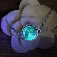 ювелирные изделия ожерелье Свечение в темноте Кристалл браслет ювелирные Luminous звезды серии Planet Браслеты Браслеты Стекло Caboch