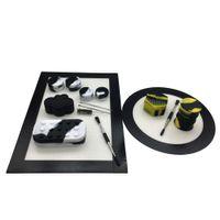 Kit de silicona con rectángulo y ronda de silicona Mat Pad 5 / 7ml 22/25 ml 6 + 1 contenedores 26 ml barril de titanio inoxidable Dabber Tool