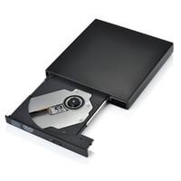 Freeshipping Lecteur de graveur CD-RW externe USB 2.0 Lecteur de lecteur combo DVD-R Câble de données Super Drive, câble d'alimentation PC portable