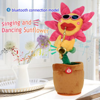 Bluetooth play Music Dancing Electric Plush Sunflower Toy No...