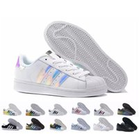 sale retailer 468c5 0f863 2016 NUEVOS Originals Superstar Blanco Hologram Iridescent Junior Superstars  80s Pride Sneakers Super Star Mujeres Hombres