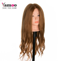 blonde 40 % Real Human Hair training head can be curled hair...