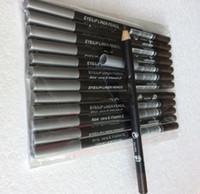 EPACKET envío gratis caliente buena calidad más bajo vendiendo buena venta nuevo delineador de ojos lápiz lápiz doce diverso colorsbrownblack