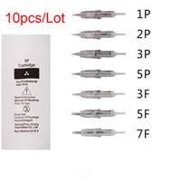 10 pcs 1 P 2 P 3 P 5 P 3F 5F 7F Agulha Cartucho de Tatuagem para Sobrancelha Lábio Maquiagem Permanente Microgigmentation Dispositivo Máquina de Tatuagem