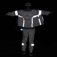 hommes veste vêtements réfléchissants 2020 chute hip hop coupe-vent de marque vêtements de plein air de la sécurité des vestes streetwear mens à capuchon coupe-vent manteaux