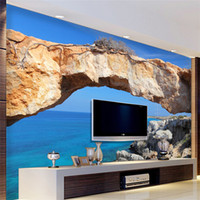 Custom 3D Mural Wallpaper For Wall Landscape Blue Ocean Seas...