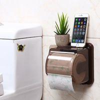 Tejido cuadro titular impermeable de moda para la cocina o el hogar del rollo de papel higiénico titular gratuito de perforación ZJ06-92