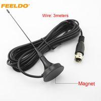 Antenne active FEELDO Auto F avec amplificateur intégré pour antenne TV de télévision numérique pour voiture # 918