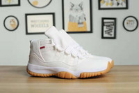 High Quality Athletic 11 White Denim Basketball Shoes Men Je...