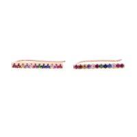arcobaleno bar orecchino lungo ear climber gioielli moda donna 925 gioielli in argento placcato color argento moda gioielli placcati
