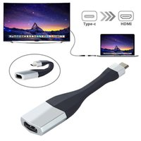 Складной USB 3.1 Тип C к HDMI мониторы HDTV видео аудио кабель адаптер 4K 30Hz Ultra HD HDTV конвертер