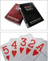 Yüksek Qulity Plastik Texas Holdem Oyun Kartı Oyunu Poker Kartları için Su Geçirmez ve donuk lehçe poker yıldız Tahta oyunları Entertainme