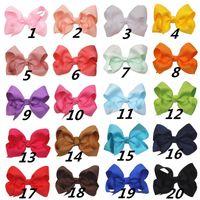 20colors eligen coreano libre 3INCH grosgrain cinta Hairbows Accesorios del bebé con el clip Boutique arcos del pelo de las horquillas del pelo corbatas libera la nave