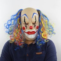 Curly Head Glow Head Clown Halloween Party Show Props Christ...