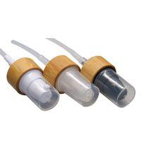 20/410 Bambu Sil / Beyaz / Siyah Losyon / Emülsiyon Basın için Pompa Kafa Meme Cap Kapak Kapak Esansiyel Yağı / Özü Şişe F1429