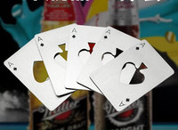 Poker Playing Card Ace of Spades Bar Strumento Soda Beer Bottle Cap Opener regalo