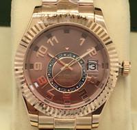 고품질의 명품 시계 Sky Dweller 18kt 에버 로즈 로즈 골드 팔찌 42mm 연간 달력 326935 기계식 자동 날짜 시계