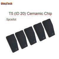 OkeyTech 5 pz / lotto Professionale T5 ID20 Chip Chiave Dell'automobile Blank In Carbonio di Ceramica Originale Unlock Transponder per Fabbro Strumento T5 Chip