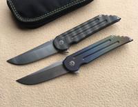 1025 زعنفة الطي سكين s35vn الصلب tc4 التيتانيوم مقبض التخييم الصيد الجيب سكاكين المطبخ أدوات edc