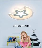 بسيطة الإبداعية مصباح السقف رقيقة جدا الصمام مصباح حماية العين للأطفال ستار مون نوم أكريليك ضوء السقف