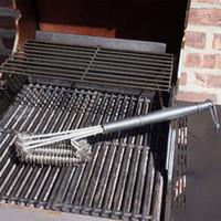 Parrilla de limpieza cepillos de acero inoxidable Cepillos En 1 Proporciona herramienta de limpieza de la cocina sin esfuerzo Barbacoa Accesorios