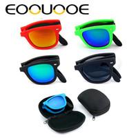 EOOUOOE Homens Quadrados Óculos De Sol de Condução Clássico Gafas UV400 Lente Espelho Óculos Femininos Dobrável Óculos De Sol