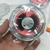 circle box to put mink eyelash round plastic box with pink o...