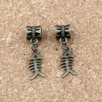 200 pezzi antico in lega di bronzo pendenti in bronzo pendenti di fascini di osso per gioielli che fanno la collana del braccialetto accessori fai da te 7x28mm A-294A