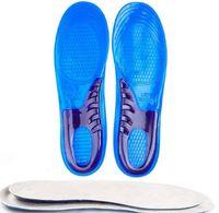 Anti-Slip Gel Macio Esporte Sapato Palmilha Almofada S / L Tamanho Orthotic Arch Suporte Massageando Palmilha