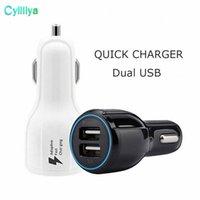 QC 3.0 Fast Car cargador dual 3.1A de carga rápida USB adaptador de la carga 9V 2A 12V 1.2A Qualcomm adaptativa rápida para Samsung Galaxy Iphone S8 8 X