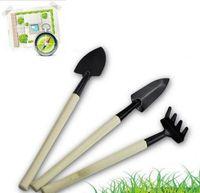 3 pcs nouveaux outils de jardinage créatifs trois pièces 3 pcs / set mini outils de jardin petite pelle / râteau / pelle / fleurs en pot