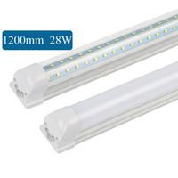 V 형 4ft 1200mm 쿨러 도어 LED 튜브 T8 통합 LED 튜브 양면 LED 조명 85-265V UL CE 10 개
