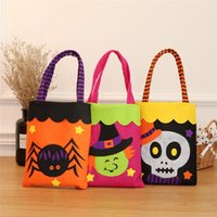 Halloween Non- Woven Bags Cotton Candy Gift Wrap Bags For Gho...
