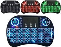 Rétro-éclairage Mini Clavier Sans Fil 2.4GHz Fly Air Mouse Avec Pavé Tactile Télécommande pour PS3 Xbox 360 Android Smart TV PC