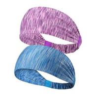 اليوغا عقال الرياضة تشغيل التجفيف السريع عالية مرونة الشعر الفرقة تمتد عقال أغطية الرأس التبعي