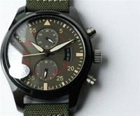 UF factory luxury PILOTS iw388003 mens watch 7750 Automatic ...