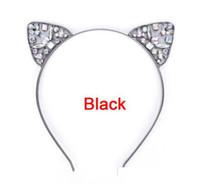 Çocuklar Kızlar Sevimli Metal Rhinestone Kedi Kulak Kafa Saç Aksesuarları Şapkalar