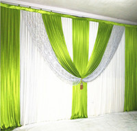 3M high*6M wide wedding backdrop with sequins swags backclot...