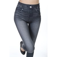 bf43905ffee CLOVEZ 2017 Autumn Winter Plus Size Leggings Jeans Denim Jeggings Women  High Waist Warm Push Up Women Leggings Jeans Trousers