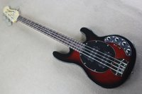 Sting Ray 4 electric bass black ring red body two pickup act...