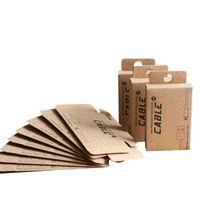 100 pc del commercio all'ingrosso su ordinazione Box Package per 1.5M Cavo USB per iPhone Samsung al dettaglio carta kraft Imballaggio Imballaggio