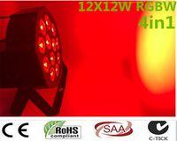 Parti KTV Disco DJ için Professional ile 2017 12x 12W RGBW DMX Sahne Işıkları İş Işıklar Led Düz Par Yüksek Güçlü Işık