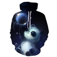 Симпатичные Panda печатных 3D толстовки унисекс кофты Мужчины Женщины пальто с капюшоном куртки осень зима животных спортивные костюмы мода пуловер