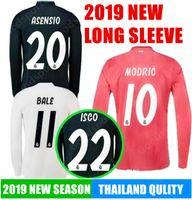 MANGA LARGA 2019 REAL MADRID Camisetas de fútbol MODRIC LUCAS MORATA BALE  KROOS ISCO BENZEMA Ronaldo 81414f67516