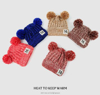 New Beanie Chapeaux pour garçons et filles Chapeau d'hiver Bonnet Designer Marque Beanies Enfants Enfant Calotte gratuit Sport Couvre-chef chaud vente