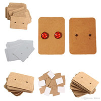 200 PCS Brown Kraft Paper Earring Card Ear Studs Display Tag Etiqueta Jewelry Display Card Kraft Rectangle Earring Earring Tag Cards